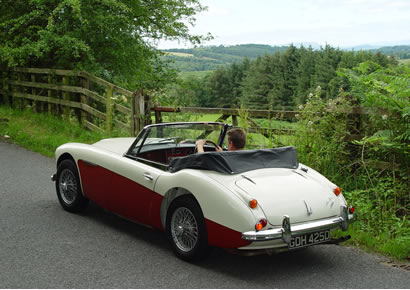 Classic car rental  Vintage sports cars to tour Scotland in style